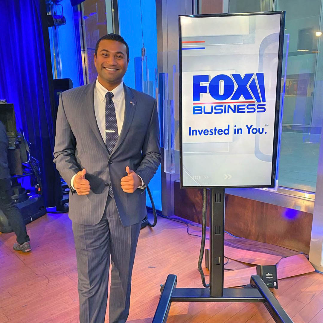 Anil Beephan at Fox Business studio