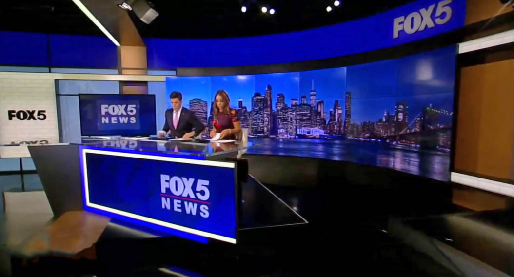 Fox 5 New York newscasting studio