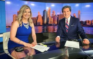 Jennifer X. Williams with Ernie Anastos