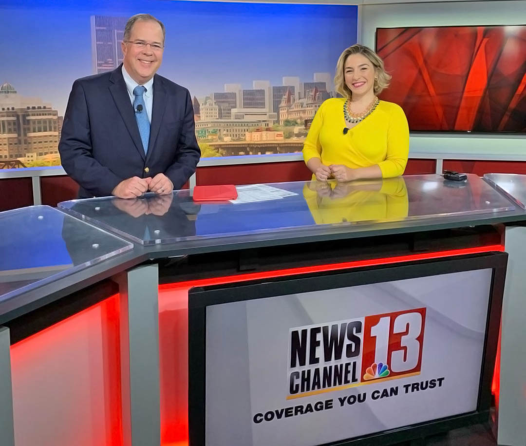 Jim Kambrich with Karen Tararache at WNYT News House