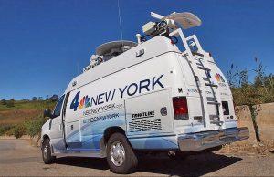 NBC News satellite van