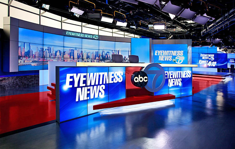 WABC TV live broadcast coverage studio