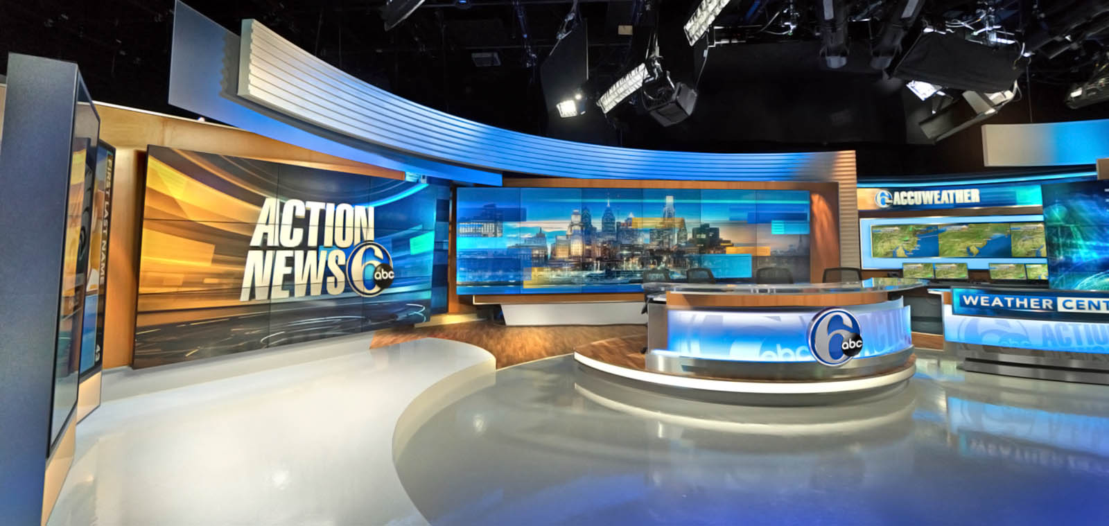 WPVI 6ABC News Philly live coverage studio