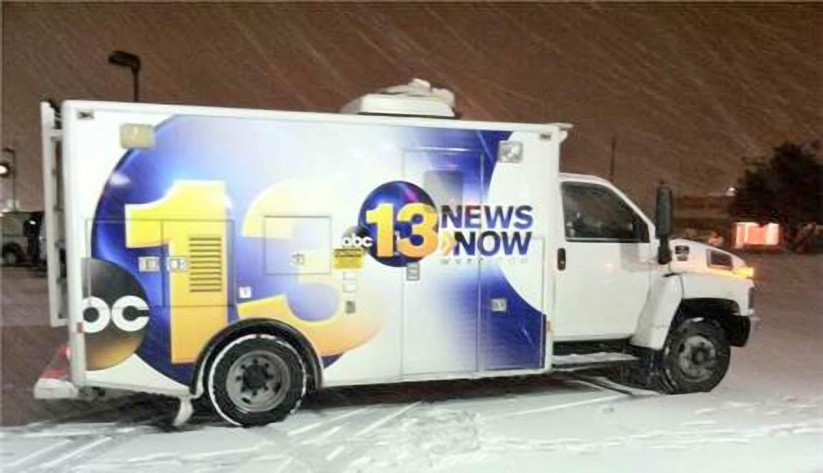 WVEC 13 News Now news van
