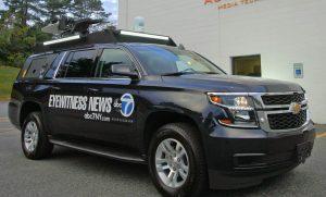 Satellite van WABaSatellite van of ABC 7 News NYC TV