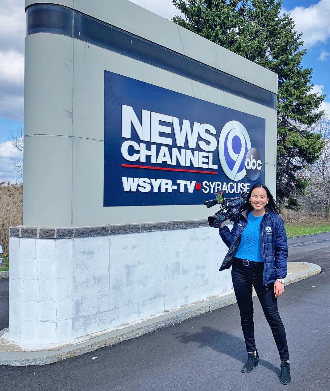 Adrienne Smith at WSYR News HQ