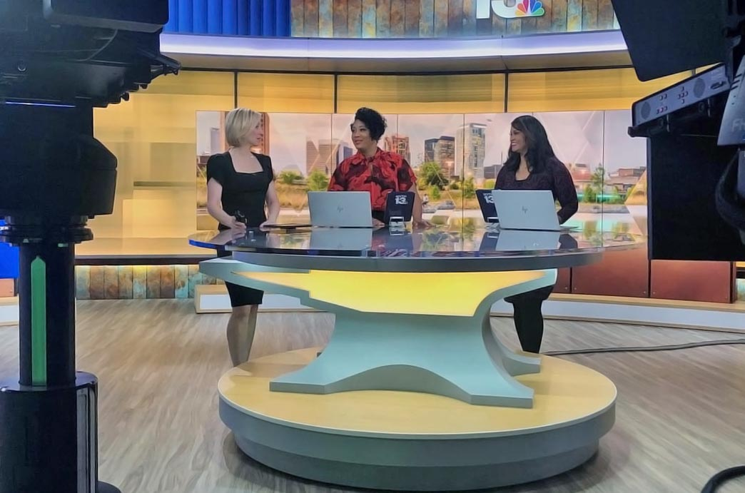 Eunice, Carla and Stephanie covering morning news on WVTM 13