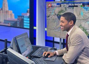 Jonathan Cubit covering news at WIVB studio