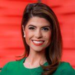 Morgan Hightower working as anchor at WBRC 6 News