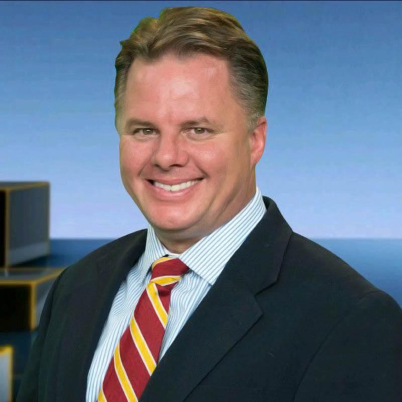 Patrick Hammer delivering news on WGRZ News