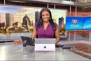 Raven Tiara Brown ready for news briefing