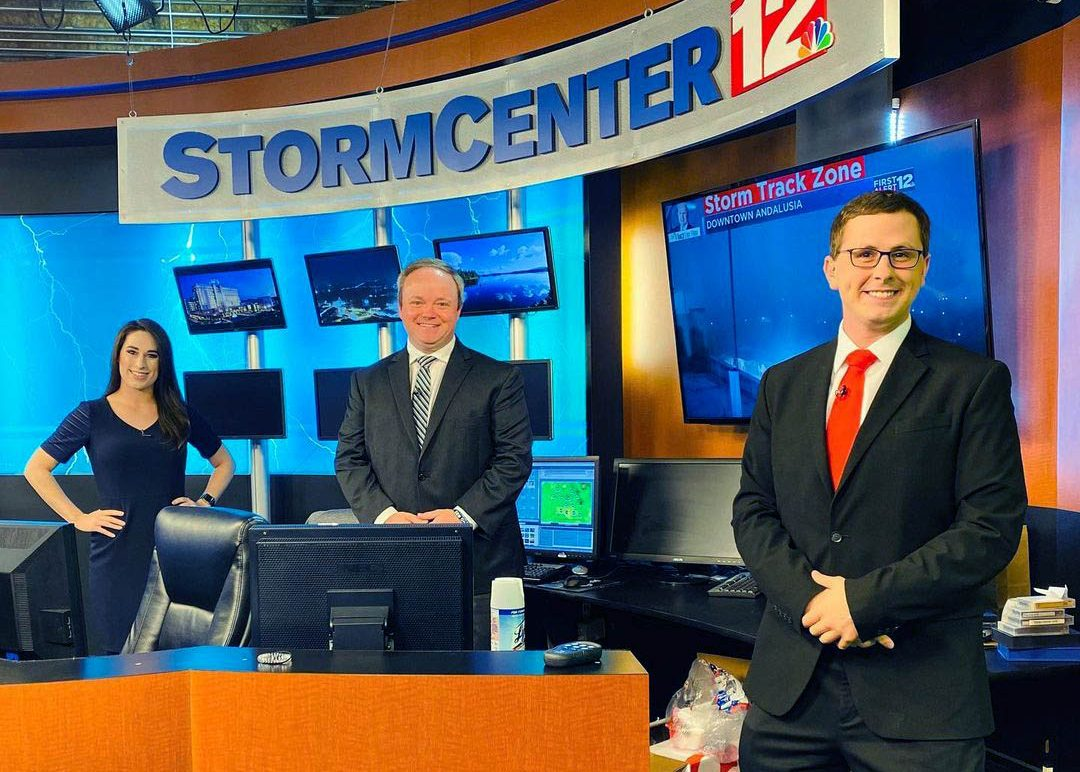 Tyler Sebree with other meteorologists