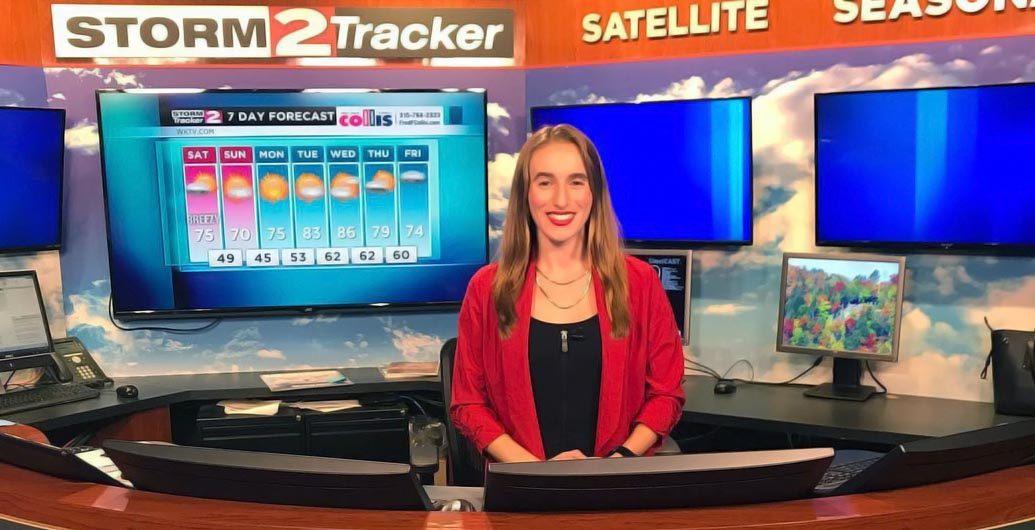Violet Scibior at WKTV News studio