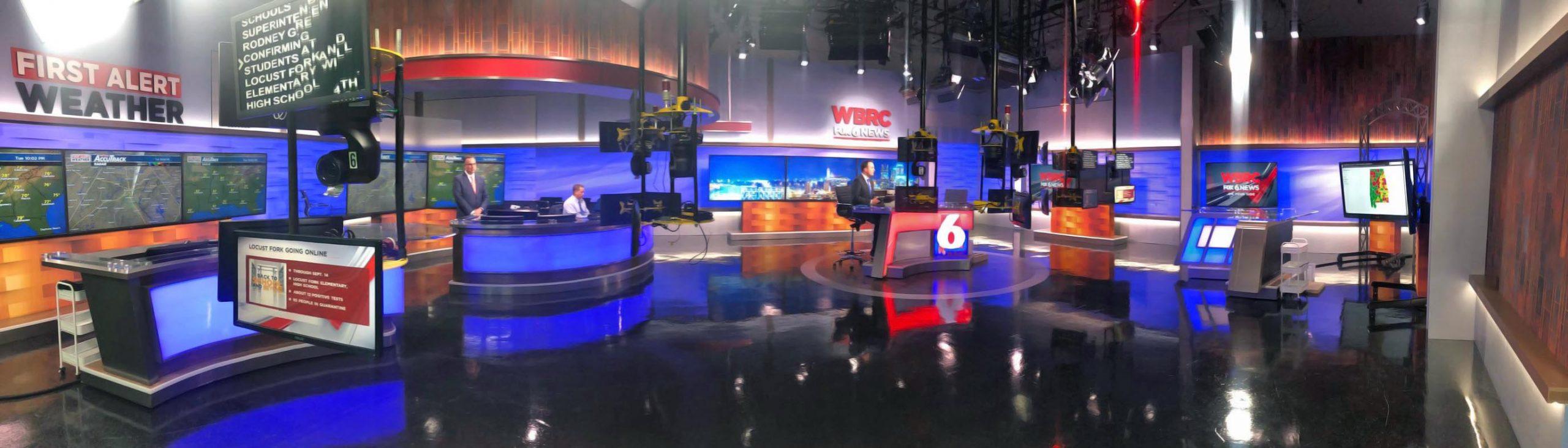 WBRC 6 News live streaming studio