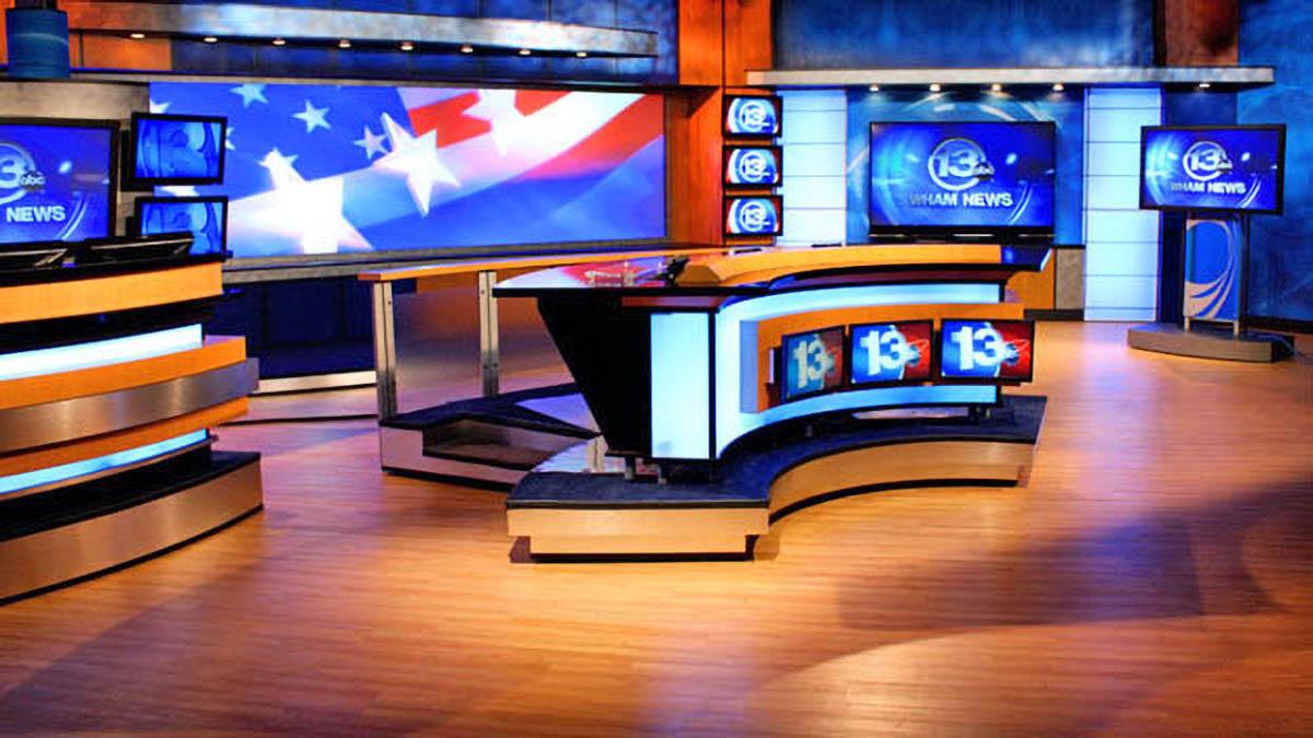 WHAM 13 ABC studio