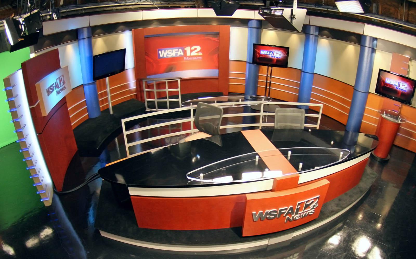 WSFA News live broadcasting studio