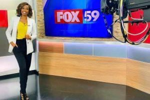 Beairshelle Edmé anchoring for Fox 59 News