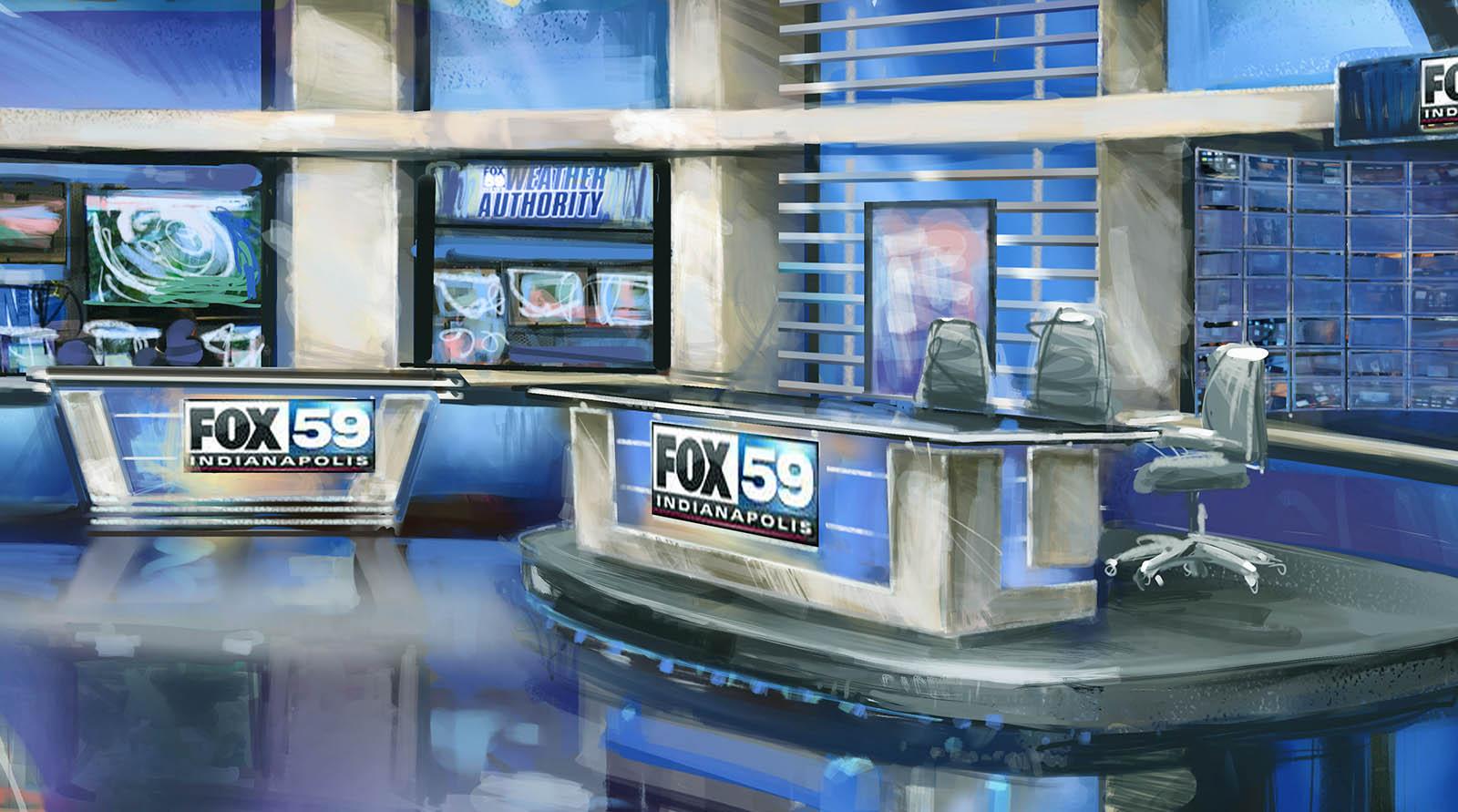Fox 59 News live streaming studio