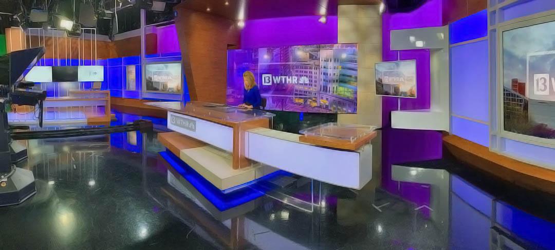 Jennie Runevitch at WTHR News studio