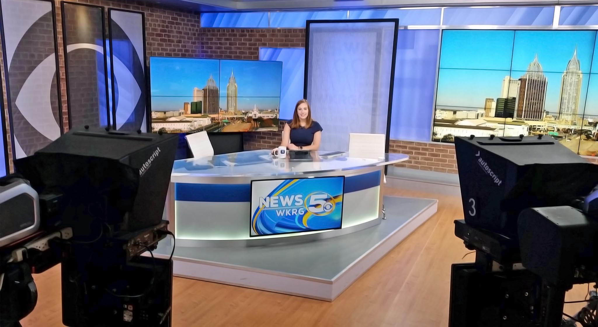Nicolette Schleisman anchoring at WKRG News