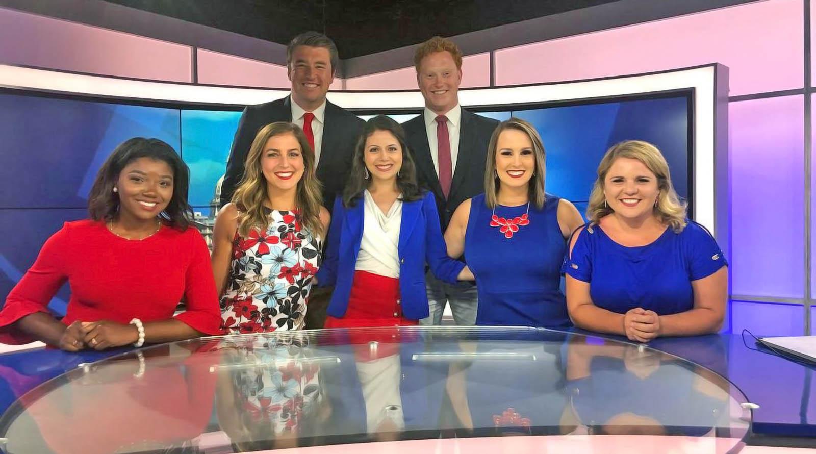 WILX News news team on set