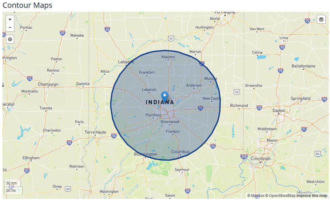WRTV News coverage map