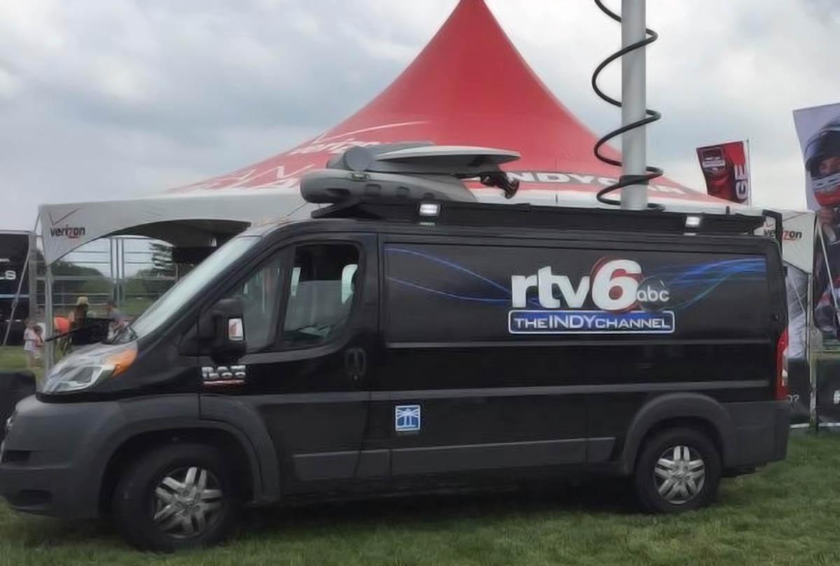 WRTV News satellite van