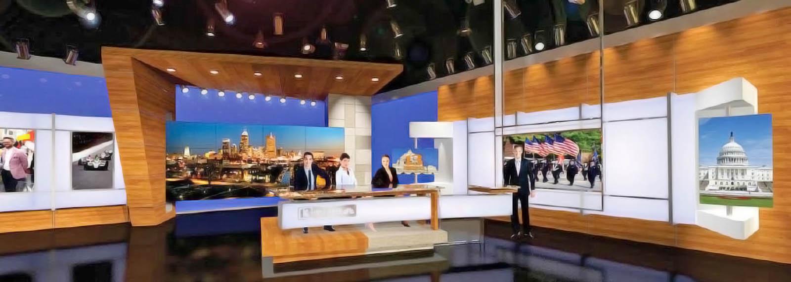WTHR News live streaming studio