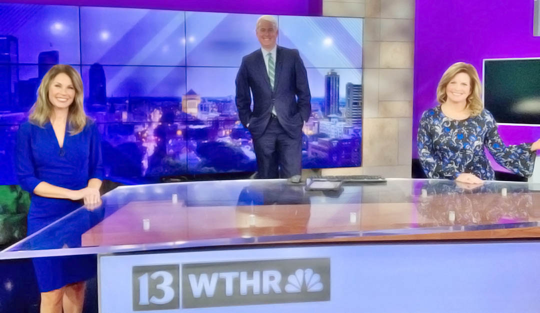 WTHR News newscasters at studio