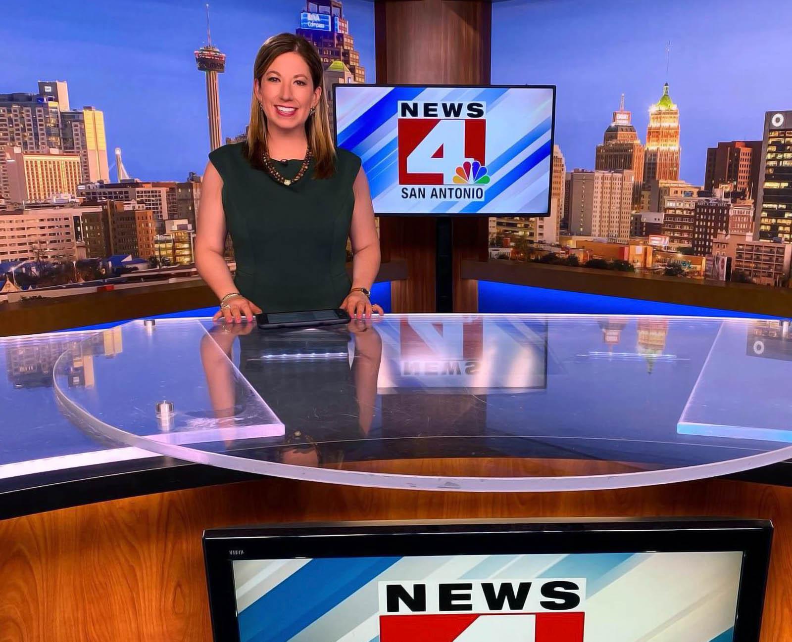 Emily Baucum on News 4 San Antonio studio