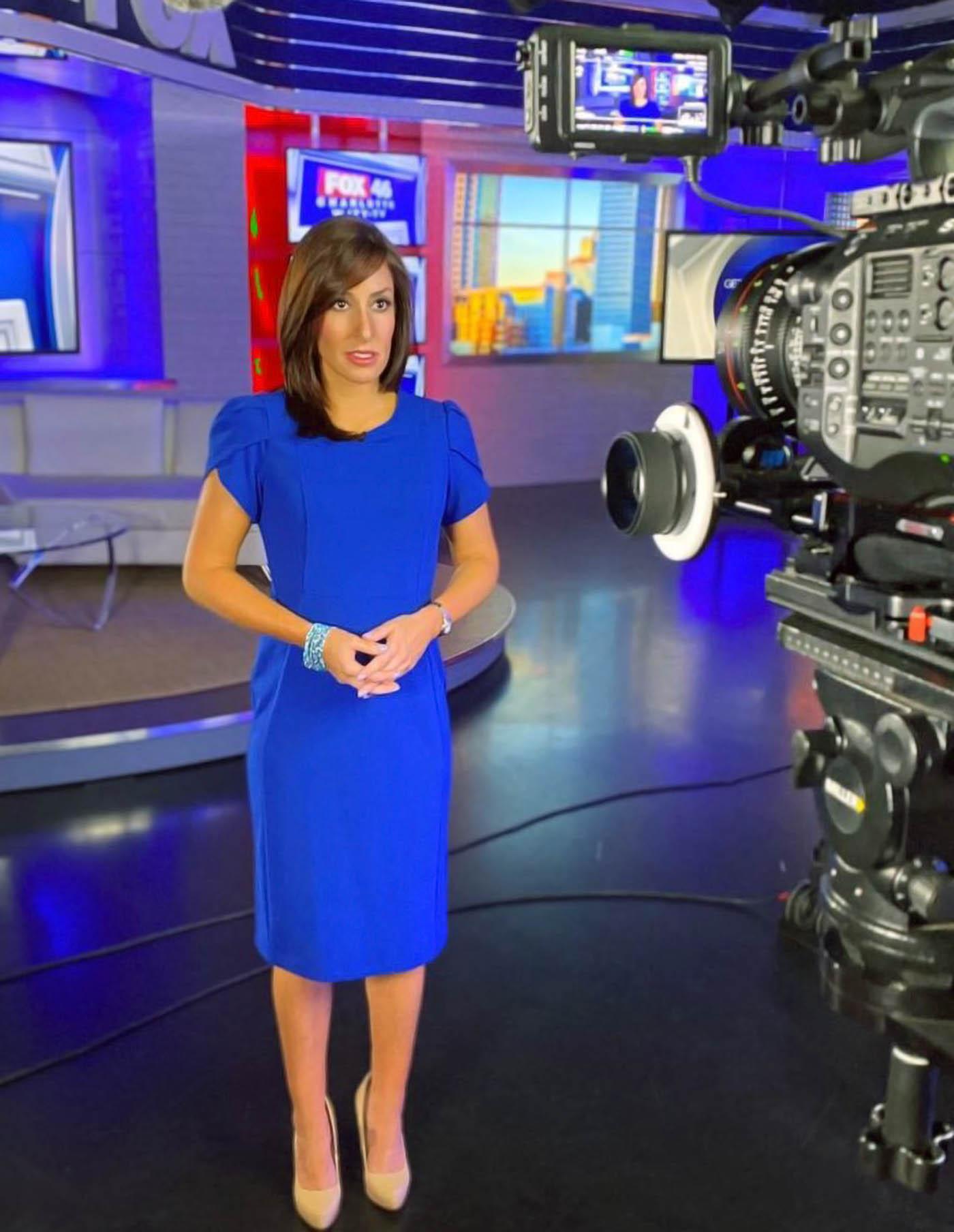 Rochelle Metzger on camera on Fox 46 News Charlotte