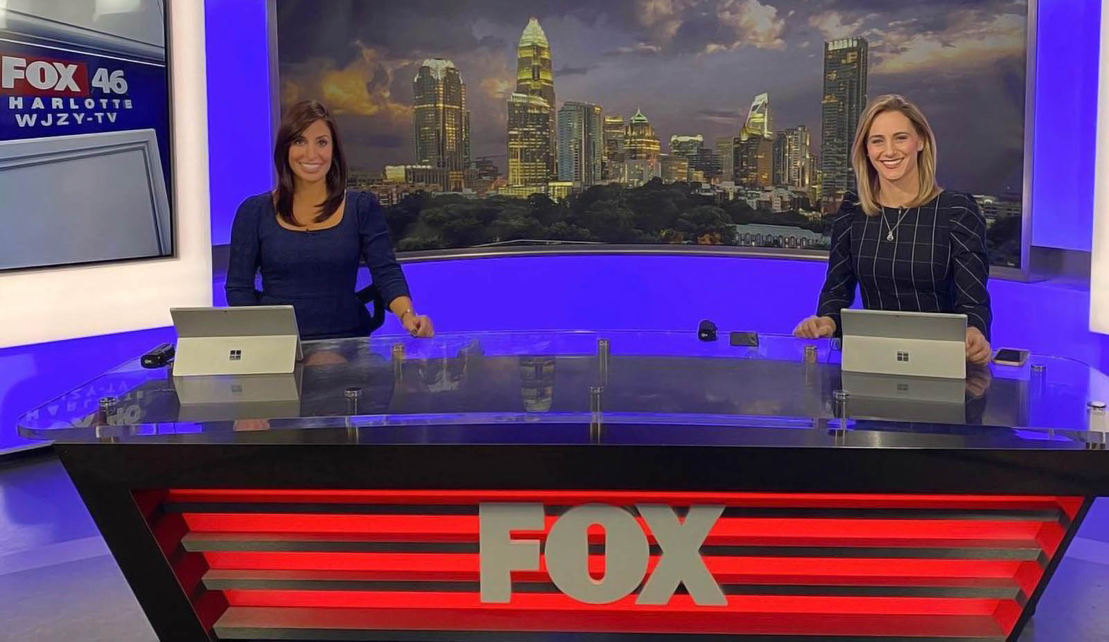 Rochelle Metzger with Morgan Frances at Fox 46 News Charlotte