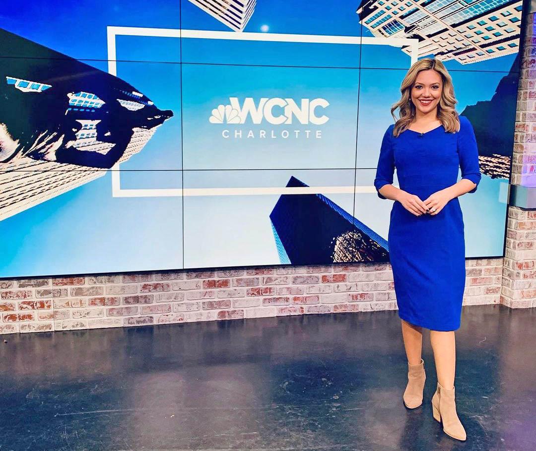 Vanessa Ruffes at WCNC News studio