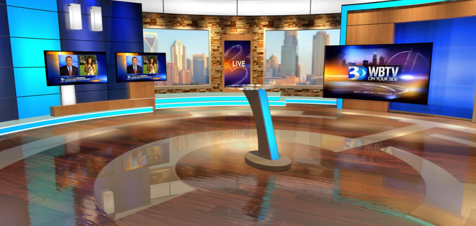 WBTV News live coverage studio