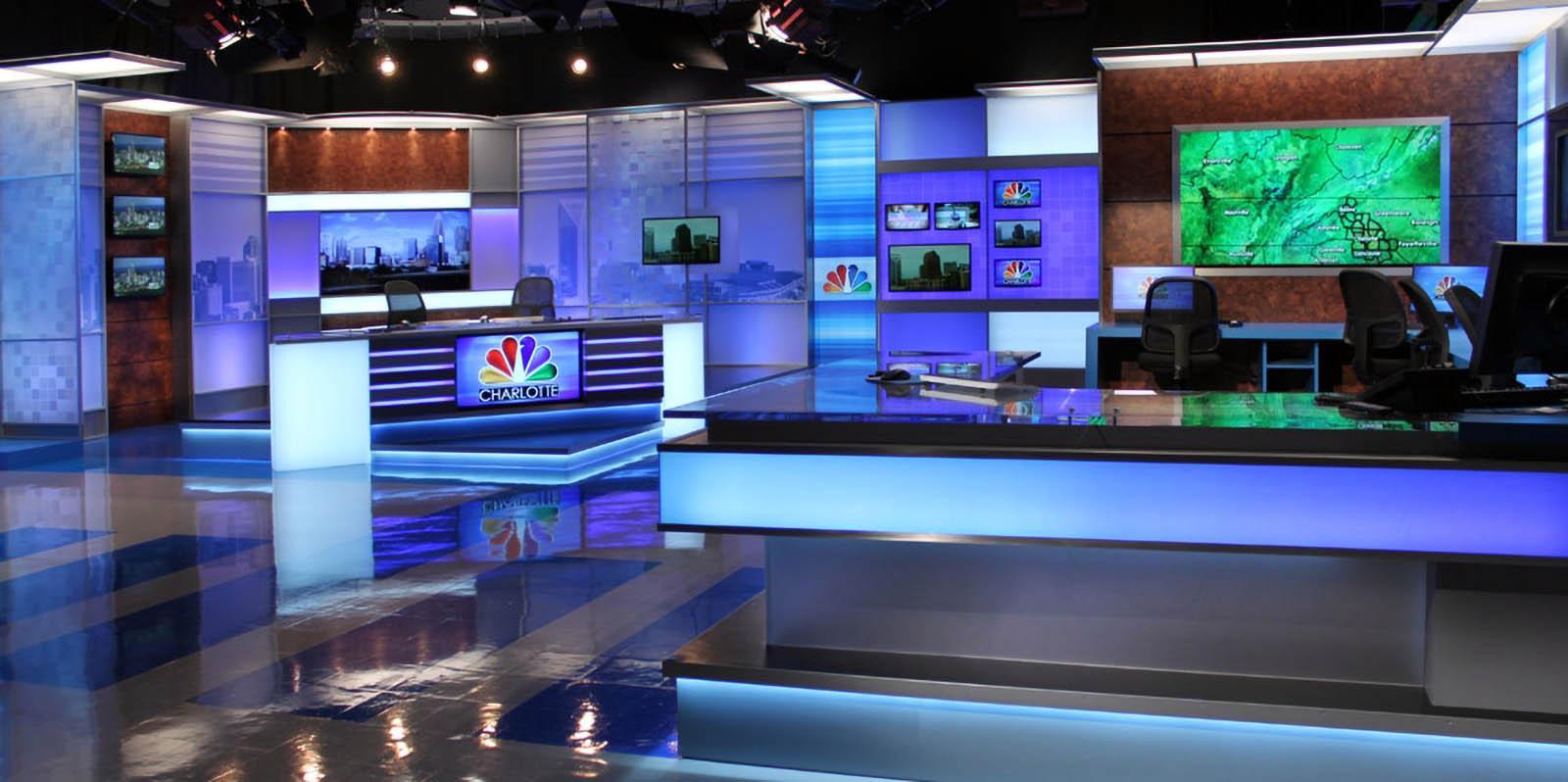 WCNC News live coverage studio
