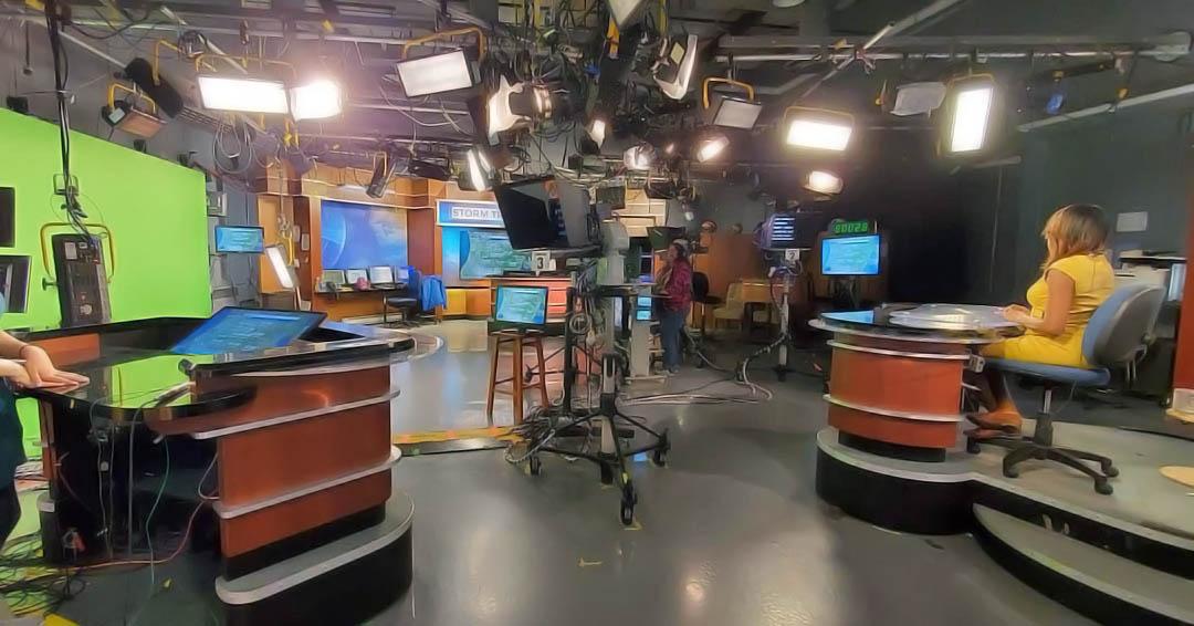 WLNS News live coverage studio