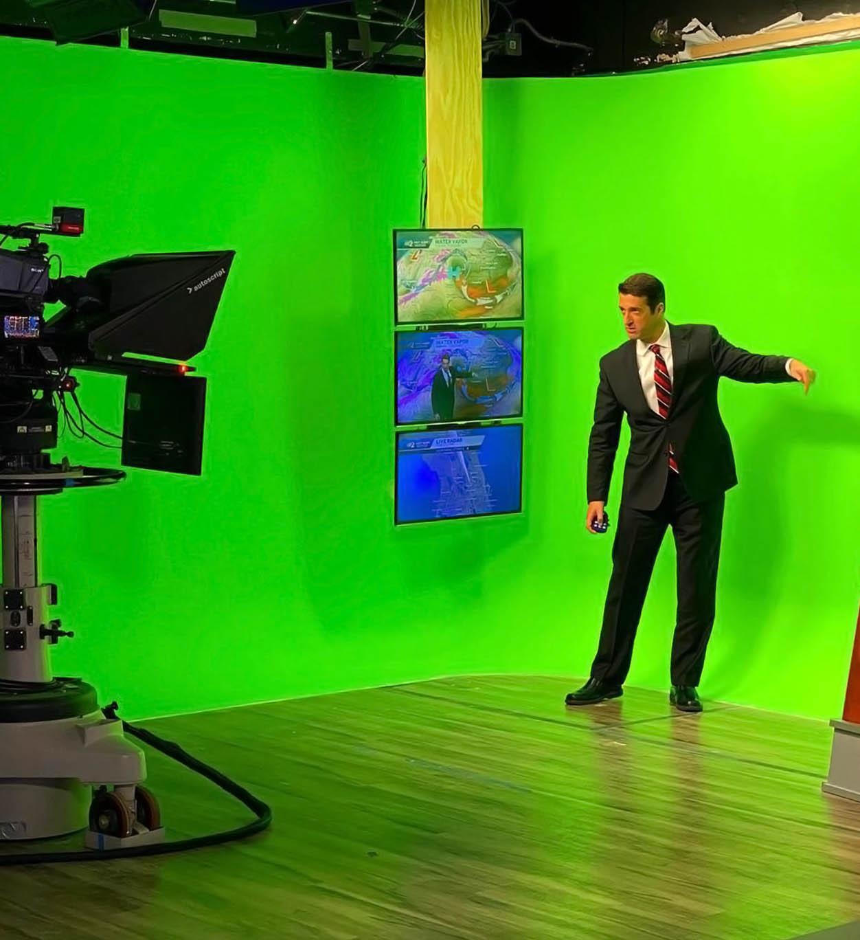 Tony Mainolfi on green screen