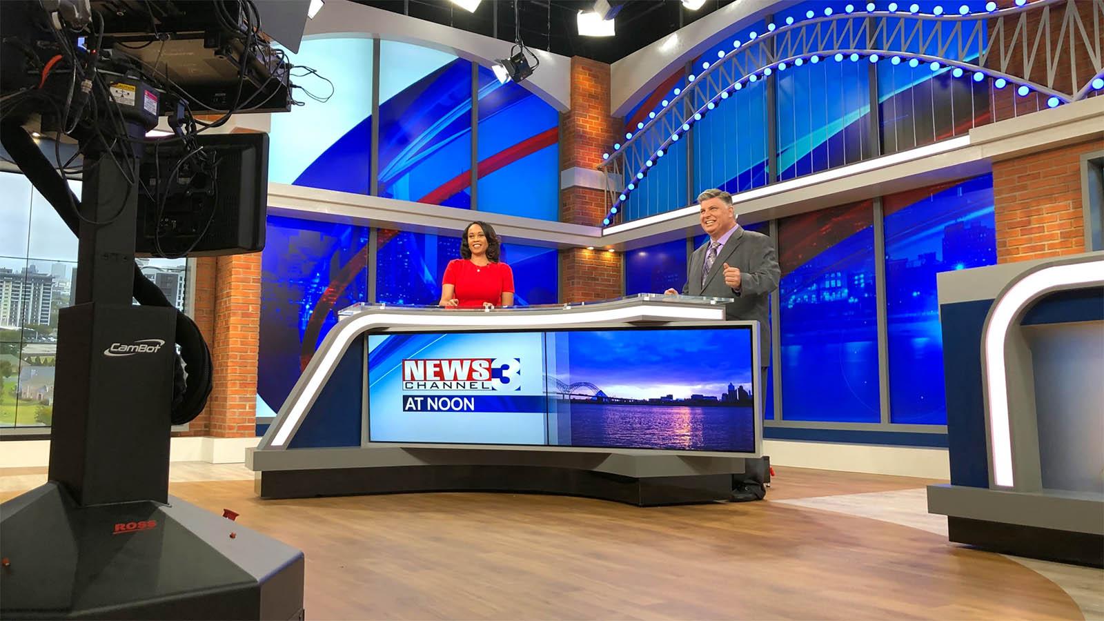 WREG News Channel 3 Memphis studio