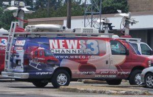 WREG News Satellite Van
