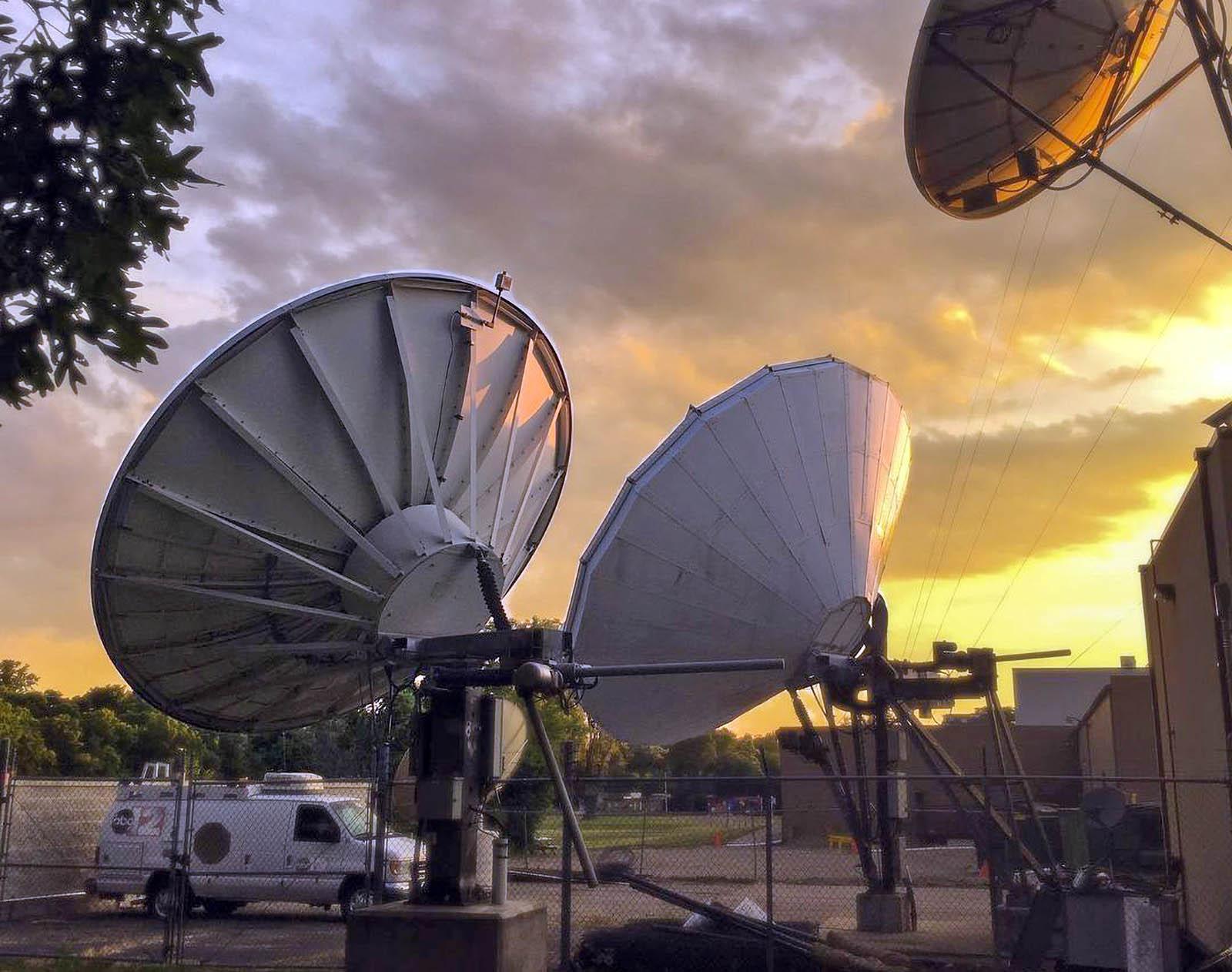 WJRT ABC12 News Satellite Dishes