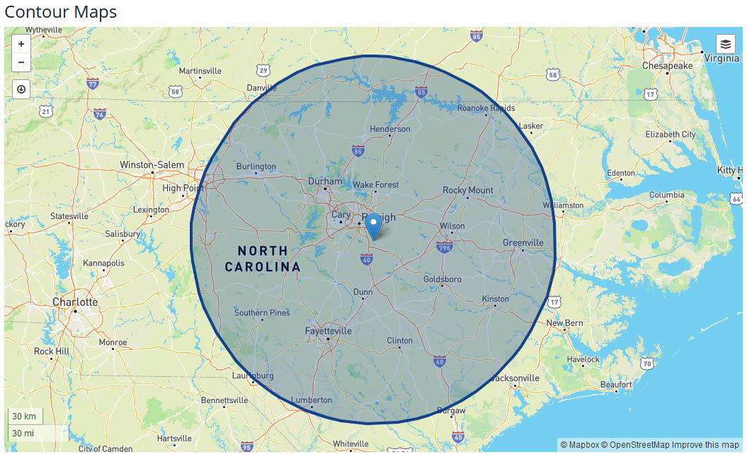 WTVD News Coverage Map