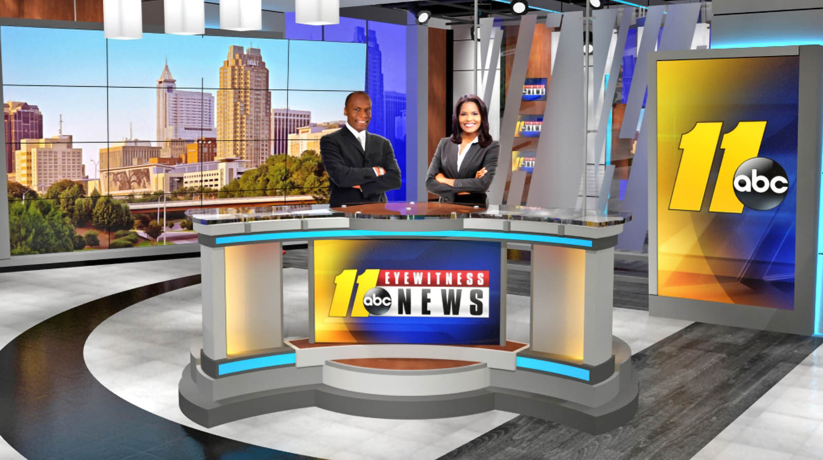 WTVD News Newscasters at Studio